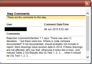 MasterControl Comments
